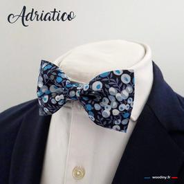 "Noeud papillon bleu liberty ""Adriatico"""