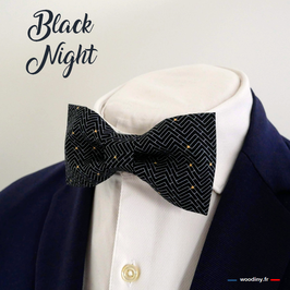 "Noeud papillon noir ""Black Night"""