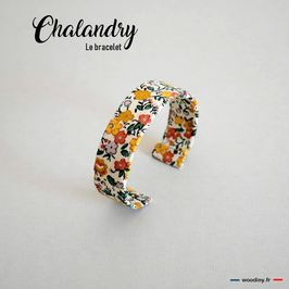 "Bracelet liberty jaune ""Chalandry"""