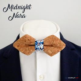 "Noeud papillon liège ""Midnight Nara"""