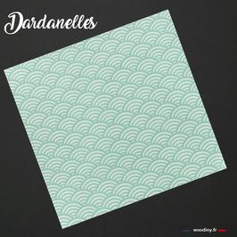 """Pochette de costume vert d'eau """"Dardanelles"""""""