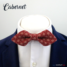 "Noeud papillon bordeaux ""Cabernet"" - forme en pointe"