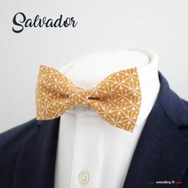 """Noeud papillon jaune """"Salvador"""""""