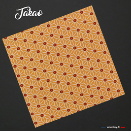 "Pochette de costume orange ""Takao"""