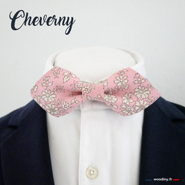 "Noeud papillon rose ""Cheverny"""