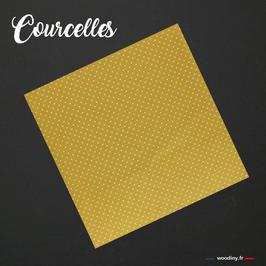 """Pochette de costume jaune """"Courcelles"""""""