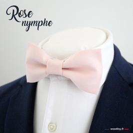 "Noeud papillon uni ""Rose nymphe"""