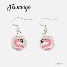 """Boucles d'oreilles """"Flamingo"""""""