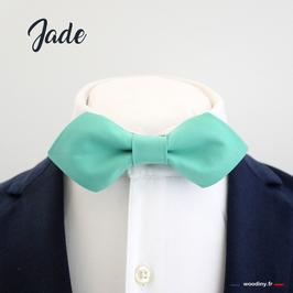 "Noeud papillon vert turquoise ""Jade"" - forme en pointe"