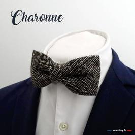 "Noeud papillon en tweed ""Charonne"""