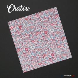 """Pochette de costume rose """"Chatou"""""""