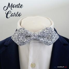"""Noeud papillon motif dés à jouer """"Monte Carlo"""" - forme en pointe"""