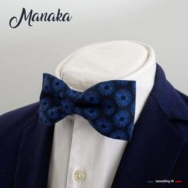 "Noeud papillon bleu ""Manaka"""