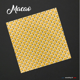 "Pochette de costume jaune orangé ""Macao"""