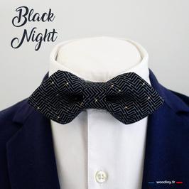 "Noeud papillon noir ""Black Night"""