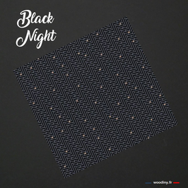 "Pochette de costume noire ""Black Night"""