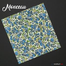 """Pochette de costume liberty bleu """"Monceau"""""""