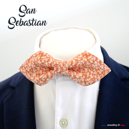 "Noeud papillon orange ""San Sebastian"""