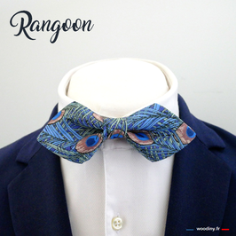 "Noeud papillon ""Rangoon"" - forme en pointe"