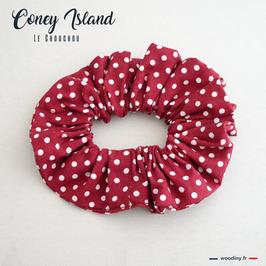 "Chouchou rouge à pois blanc ""Coney Island"""