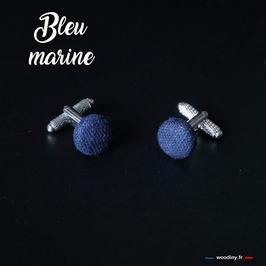 """Boutons de manchette """"Bleu marine"""""""