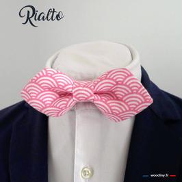 """Noeud papillon rose """"Rialto"""" - forme en pointe"""