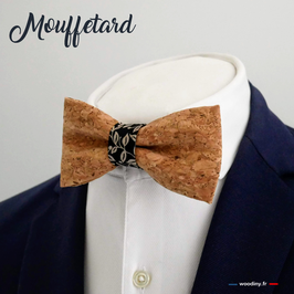 """Noeud papillon en liège """"Mouffetard"""""""