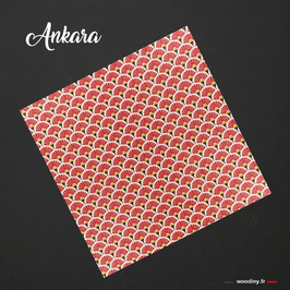 "Pochette de costume rouge ""Ankara"""