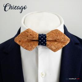 "Noeud papillon liège ""Chicago' - forme en pointe"