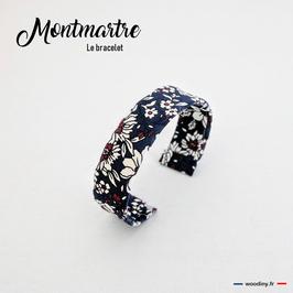 """Bracelet en tissu bohème """"Montmartre"""""""
