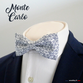 """Noeud papillon motif dés à jouer  """"Monte Carlo"""""""
