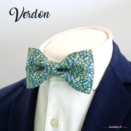 """Noeud papillon vert bleu """"Verdon"""""""