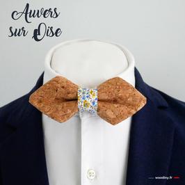 """Noeud papillon liège """"Auvers sur Oise"""" - forme en pointe"""