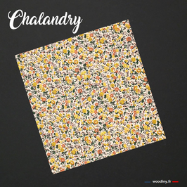 "Pochette de costume jaune ""Chalandry"""