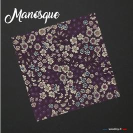 """Pochette de costume aubergine """"Manosque"""""""
