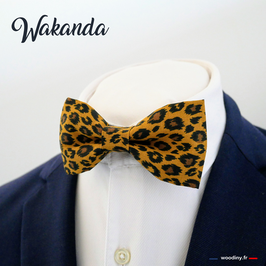 "Noeud papillon motif léopard ""Wakanda"""