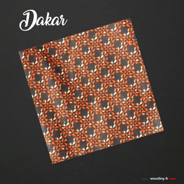 "Pochette de costume wax orange ""Dakar"""