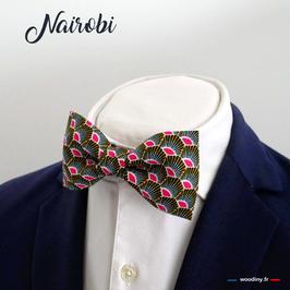 "Noeud papillon rose ""Nairobi"" - adulte"
