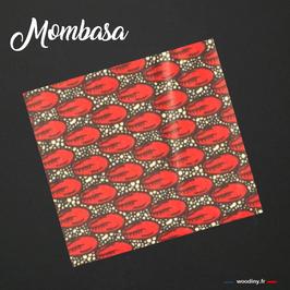 "Pochette de costume wax rouge ""Mombasa"""