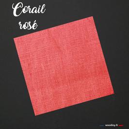 """Pochette de costume unie """"Corail Rosée"""""""