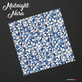 "Pochette de costume bleue ""Midnight Nara"""