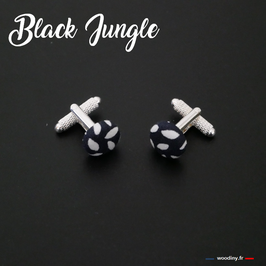 "Boutons de manchette ""Black Jungle"""