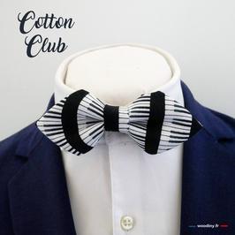 "Noeud papillon ""Cotton Club"" - forme en pointe"
