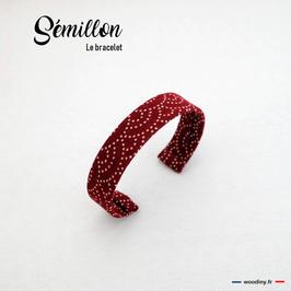 """Bracelet bordeaux """"Sémillon"""""""