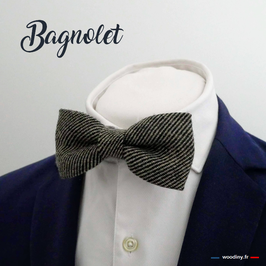 "Noeud papillon en tweed ""Bagnolet"""