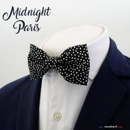 """Noeud papillon noir à pois """"Midnight Paris"""""""
