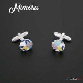 """Boutons de manchette """"Mimosa"""""""