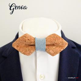 """Noeud papillon liège et jean """"Genoa"""""""