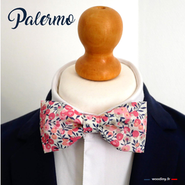 "Noeud papillon rose ""Palermo"""