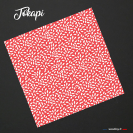 """Pochette de costume rouge """"Tokapi"""""""